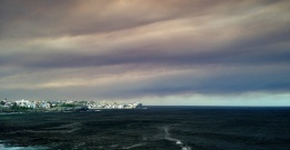 Bushfire sky, north Bondi
